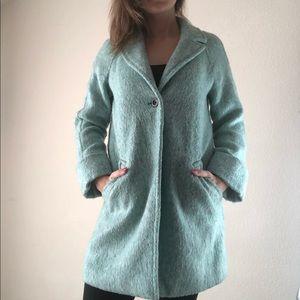 Zara blue turquoise jacket size xs